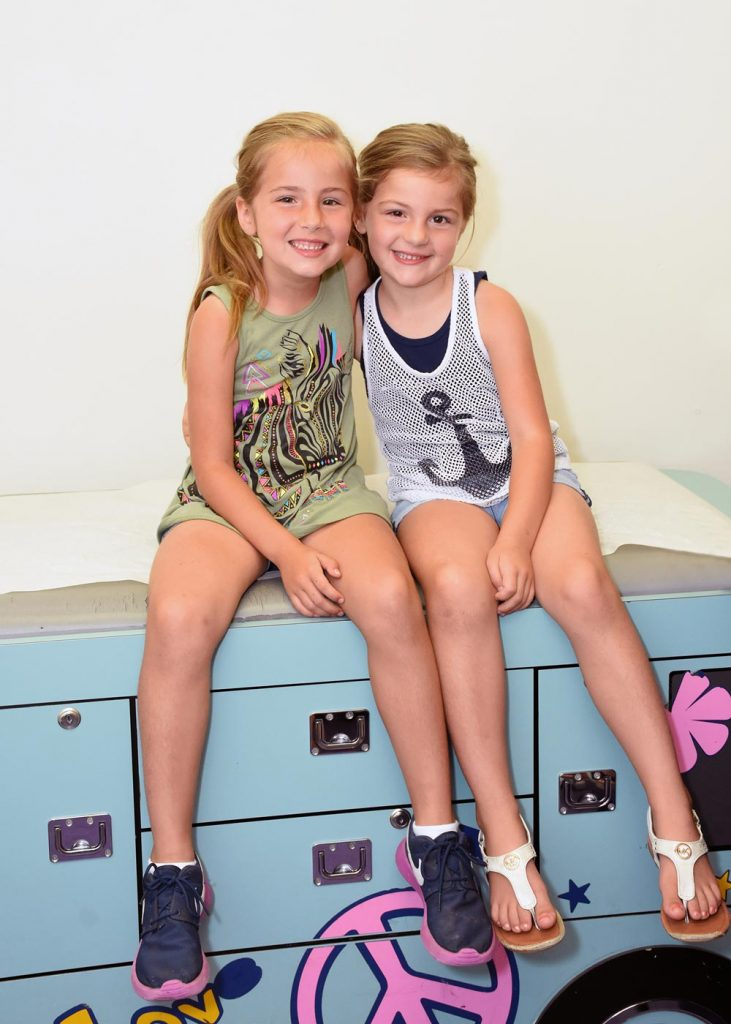 Two girls in clinic